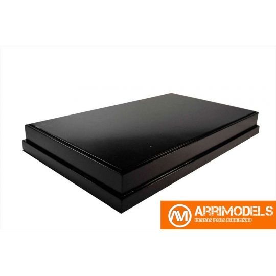 DM LACQUERED BLACK 33x20x4,5