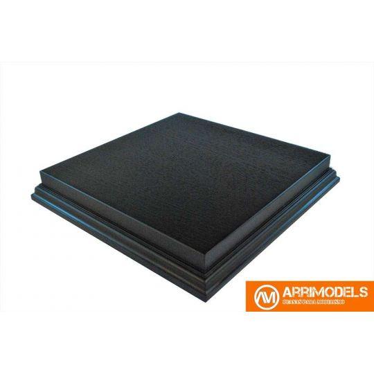 Peana Semi Aligerada Rechapado acabado en negro 21x21x3,5