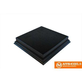 Peana Rechapado acabado en negro 15x15x3