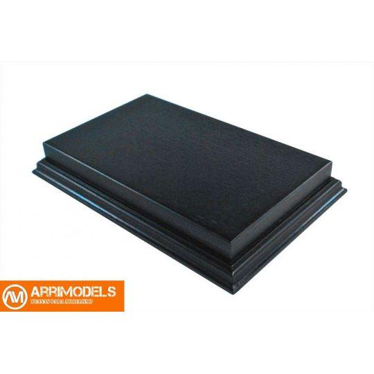 Peana Rechapado acabado en negro 20x12x3,5