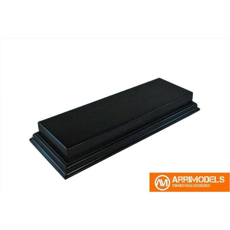 Peana Semi Aligerada Rechapado acabado en negro 28,5x14,5x3,5