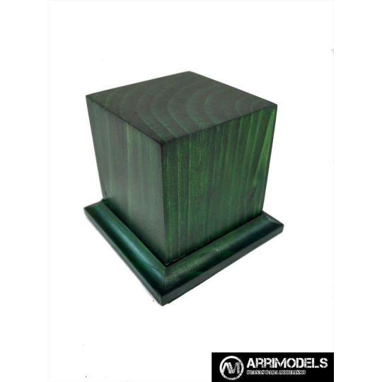 PEANA PEDESTAL MADERA ACABADO EN VERDE 5x5x6