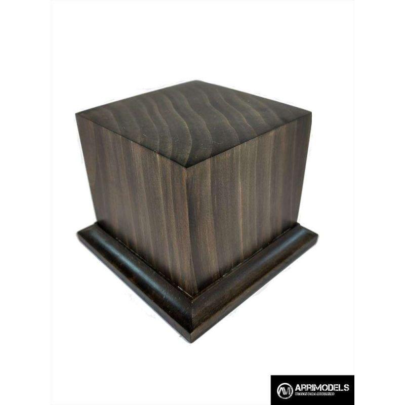 PEANA PEDESTAL MADERA ACABADO EN TABACO 6x6x6