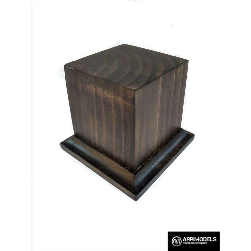 PEANA PEDESTAL MADERA ACABADO EN TABACO 5x5x6