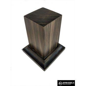 PEANA PEDESTAL MADERA ACABADO EN TABACO 3x3x6