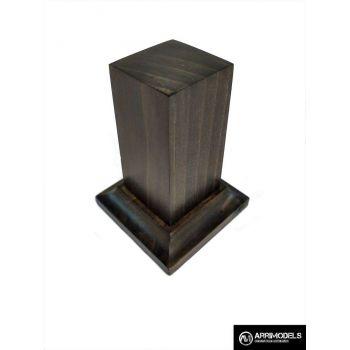 PEANA PEDESTAL MADERA ACABADO EN TABACO 2,5x2,5x6
