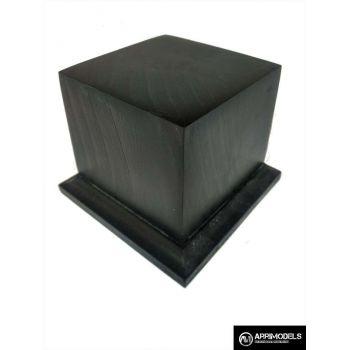 PEANA PEDESTAL MADERA ACABADO EN NEGRO 6x6x6