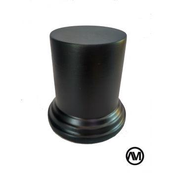 Peana Pedestal Redondo DM - Lacado Negro 5 x 6