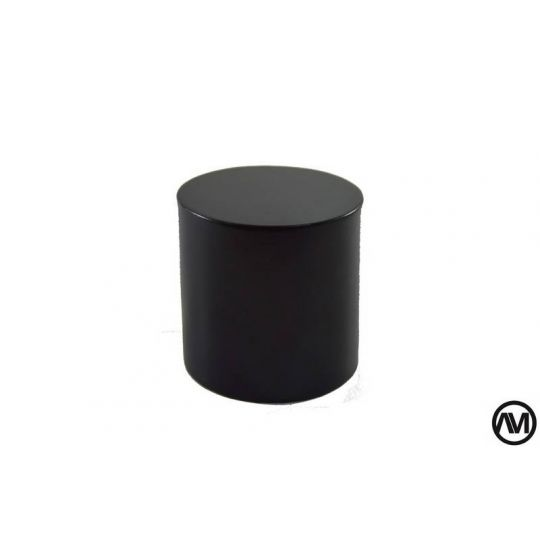 PEANA TACO REDONDO DM LACADO - NEGRO 6x6 (DiametroxAlto)