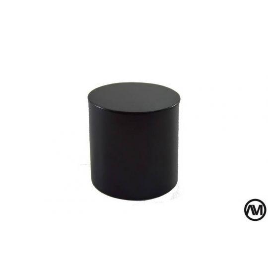 REDONDO DM LACADO - NEGRO 6x6 (DiametroxAlto)