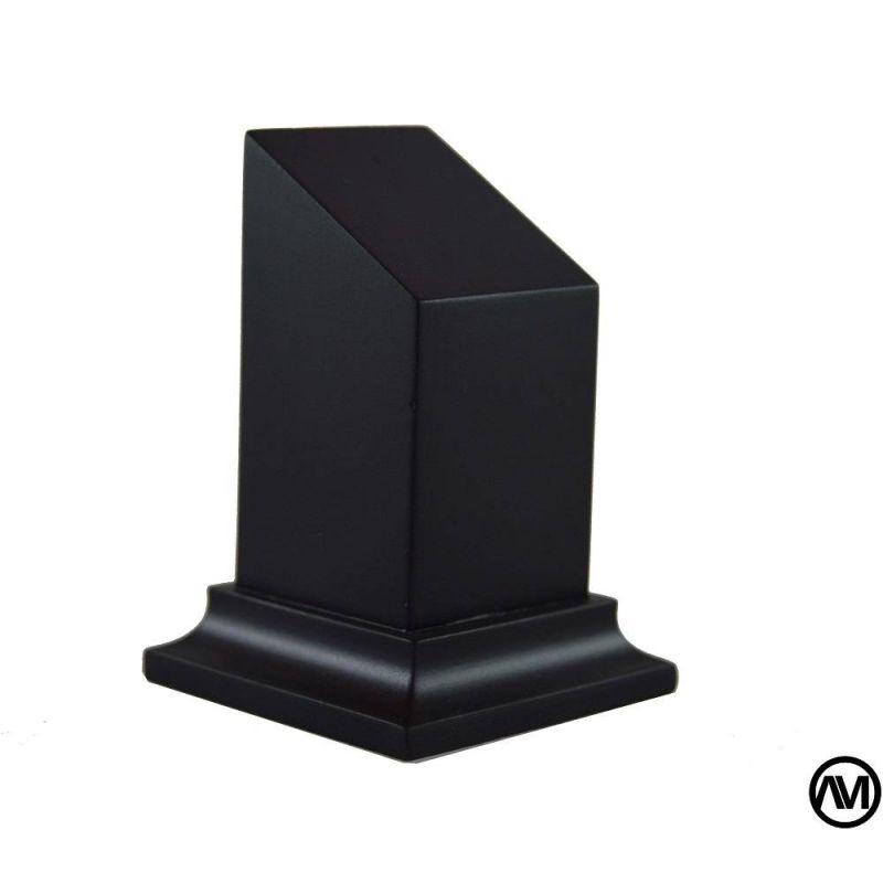 Peana busto DM Lacado Negro 3X3X5