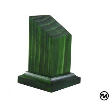 WOOD FINISH GREEN 3x3x7