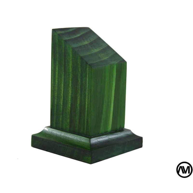 Peana pedestal busto MADERA ACABADO VERDE 3x3x7