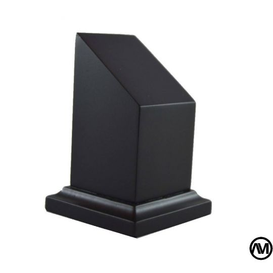 Peana busto DM Lacado Negro 4X4X5