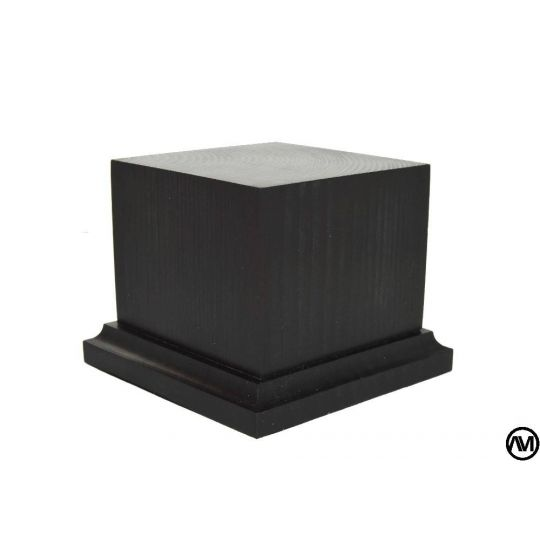 PEANA PEDESTAL MADERA ACABADO NEGRO 8x8x7,5