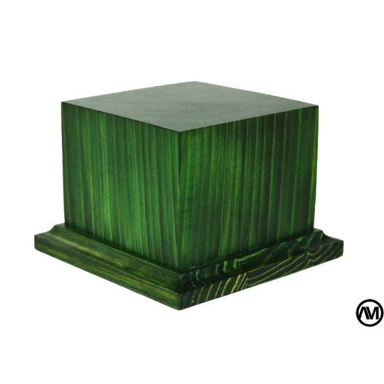 WOOD FINISHED GREEN 7X7X6