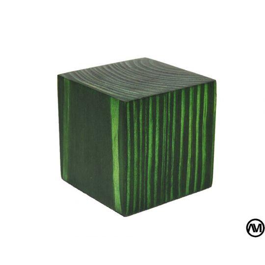 PEANA TACO MADERA ACABADO EN VERDE 5x5x5