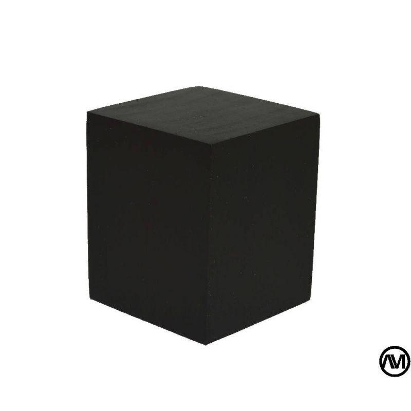 PEANA TACO MADERA ACABADO NEGRO 4x4x5