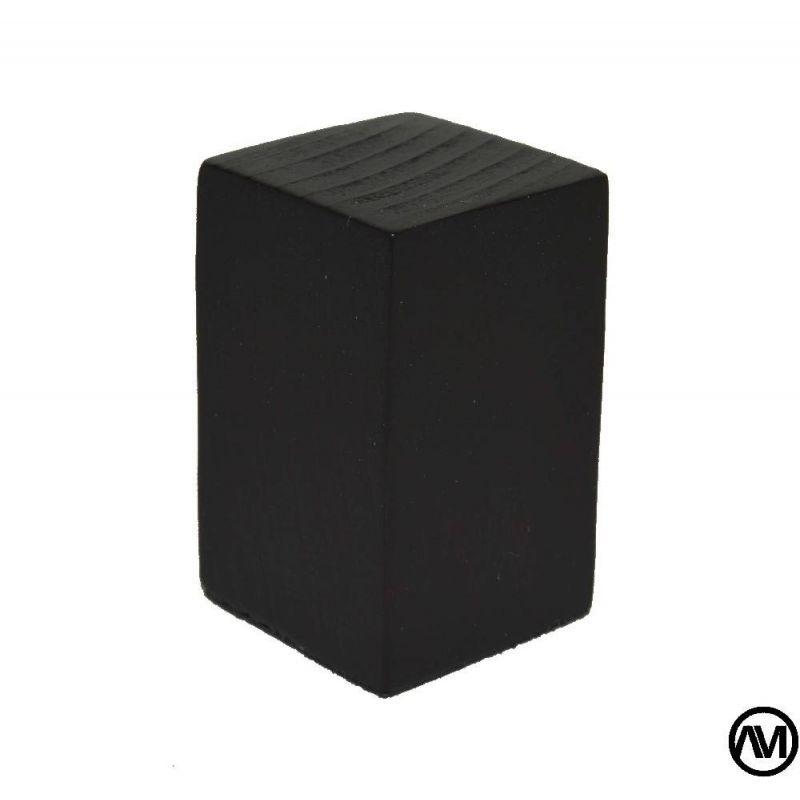 PEANA TACO MADERA ACABADO NEGRO 3x3x5