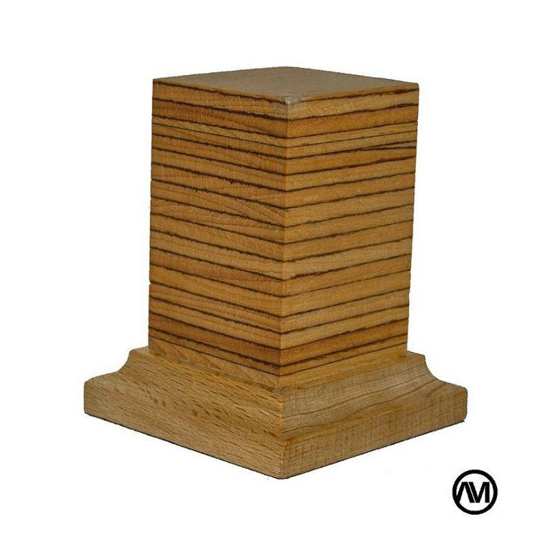 PEANA PEDSTAL MADERA HAYA BETEADO CLARO 3,5x3,5x6