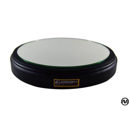 DM LACQUERED BLACK ESPEJO Diametro 25cm