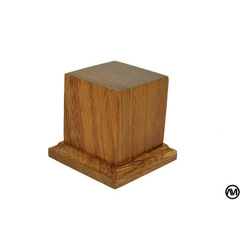 PEANA PEDESTAL MADERA DE IROKO 5x5x6