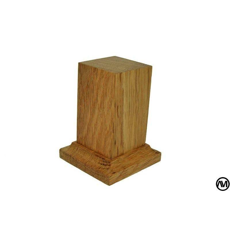 PEANA PEDESTAL MADERA DE ROBLE 3x3x6