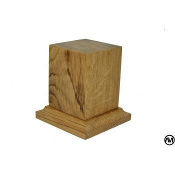 PEANA PEDESTAL MADERA DE ROBLE 4x4x6