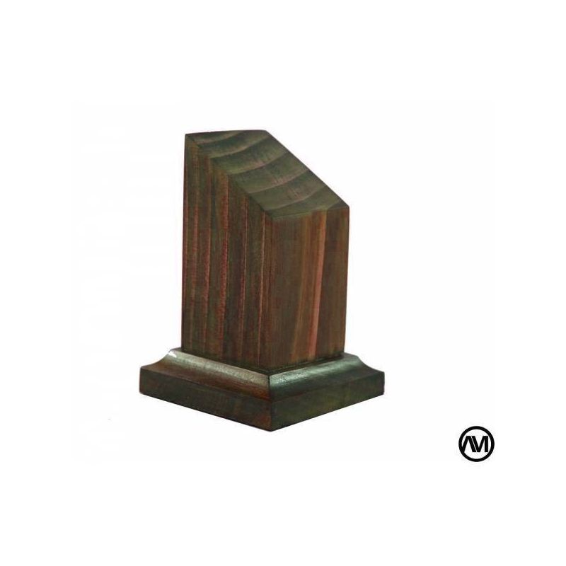 Peana pedestal busto madera acabado cerezo 3x3x7