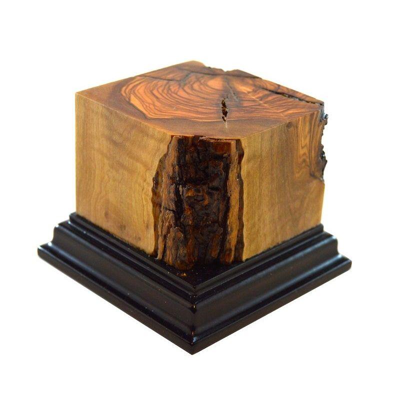 PEANA MADERA - OLIVO CON BASE NEGRA 5,5x5,5x6