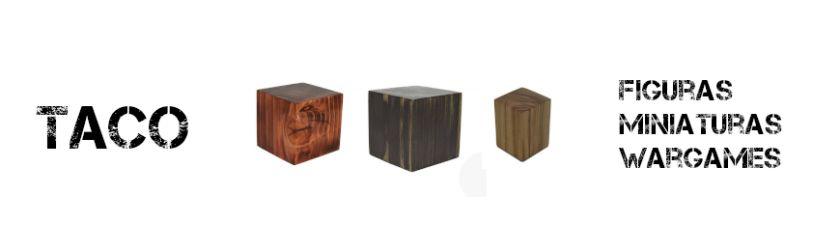 Peana Taco de madera para figuras y miniaturas