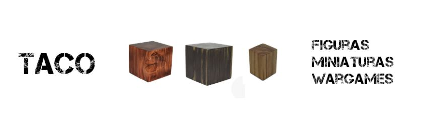 Wooden  Plinths Taco for figures and miniatures
